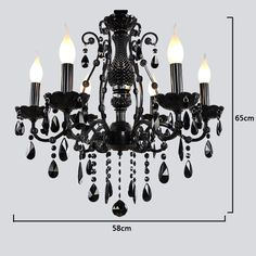 Black Glass Crystal Candle-style Chandelier Up-light Electroplated Light InformationCertification: FCC/CEType : Crystal ChandelierStyle : Modern ContemporaryLight Direction: Ambient Light/ UplightLight Source: Cheap Chandelier, Black Chandelier, Chandeliers, Chandelier Ideas, Modern Retro, Modern Contemporary, Wooden Lanterns, Ceiling Light Fixtures, Black Glass
