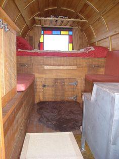A tiny sheep wagongypsy vardo interior Sheep Interiors and