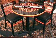 Harley Davidson Table and Chairs new kitchen table