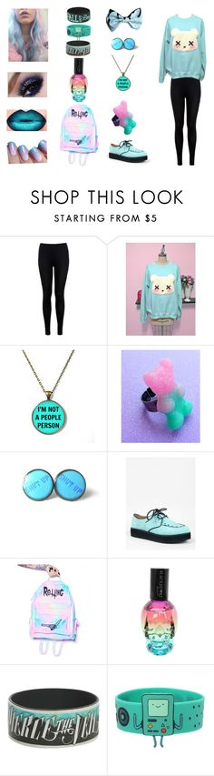 """Pastel Goth Outfit 2"" by bringmetheblackveilsirens ❤ liked on Polyvore featuring moda, Miss Selfridge, Qupid, Rotting Fresh, goth, pastel, pastelgoth, piercetheveil y falloutboy"