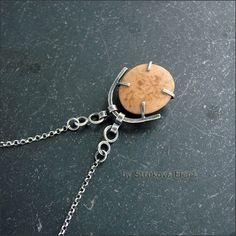 Strukova Elena - copyrights Jewelry - Pendant with pebbles for Marina