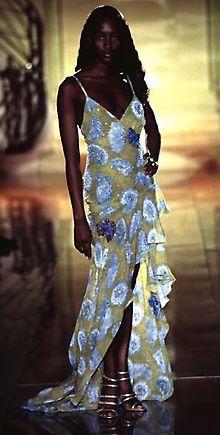 The model pp-201: Gianni Versace Dress   Free Pattern