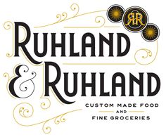 Ruhland & Ruhland | Jessica Hische  An identity for a fancy deli in Germany. The owner wanted the store to have a vintage feel and wanted a logo that would have the quality of an early 20th century mark but still feel at home in the 21st century.  http://jessicahische.is/eatinggroceriesfromafancydeli/#
