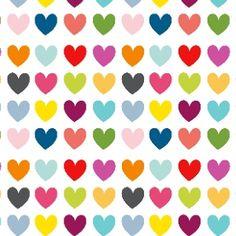 Coeurs multicolores