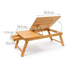 Relaxdays 10019147 - Mesa Plegable para portatil, Bambú, Altura Ajustable, 30.5 x 72.5 x 35 cm, 2.1 Kg, Natural: Amazon.es: Hogar Folding Furniture, Pallet Furniture, Furniture Design, Diy Home Decor On A Budget, Diy Room Decor, Diy Laptop Stand, Laptop Table For Bed, Lap Table, Foldable Table