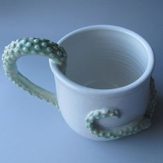Tentacle Monster Coffee Mug by wildcardpottery on Etsy