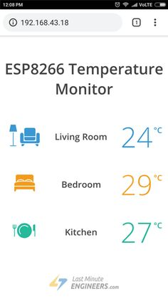 Learn to interface Multiple Temperature Sensors with NodeMCU (In Arduino IDE) display values on web server & Dynamically load data with AJAX Esp8266 Projects, Iot Projects, Electronics Basics, Electronics Projects, Arduino Programming, Home Automation Project, Fm Radio Receiver, Esp8266 Wifi, Gadgets And Gizmos