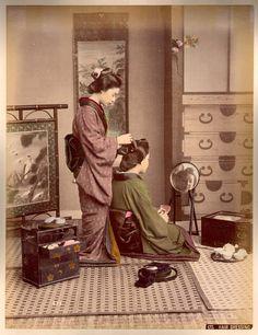 Hair dressing by Kusakabe Kimbei