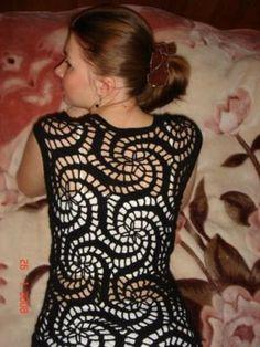 Crochet delicacies Gabriela: Waistcoat