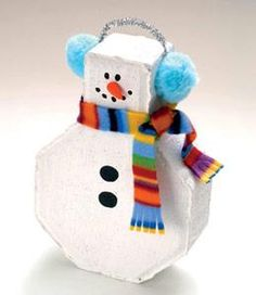patio paver snowman--great parent gift for Christmas