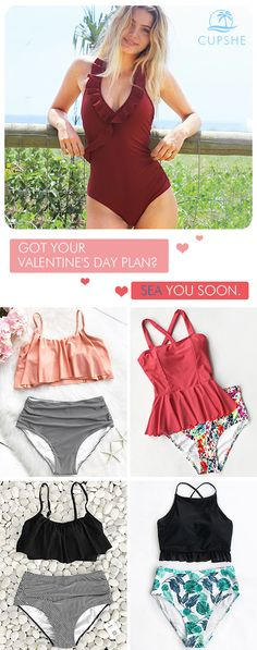 Got your V-Day plan? A romantic beach trip will always be the best choice! Deliver you a hot and memorable season! Don't let go easily of every chance to meet the sparkling you! Choose this style and find inspiration here!