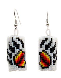 Bear Paw earrings made with size 15 cutglass beads