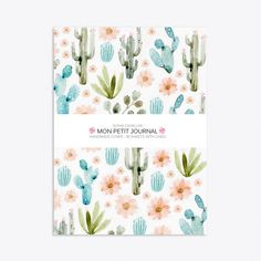 Cactus Notebook A6 ($15) ❤ liked on Polyvore featuring home, home decor, stationery, filler, items, books, decor, notebook and stationary