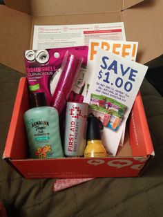 My 1st VoxBox from Influenster looks like this! The #SurfsUpVoxBox was complimentary from Influenster!  Let me know if you want to know how to get FREE products for testing purposes from Influenster, too!