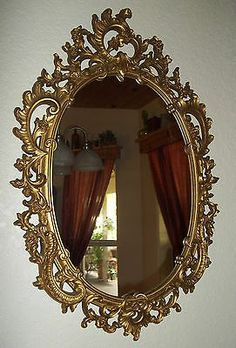 Home Interior Mirrors Fair Stunning Antique Wood Mirror With Gesso Florettes And Tassels One . Design Decoration