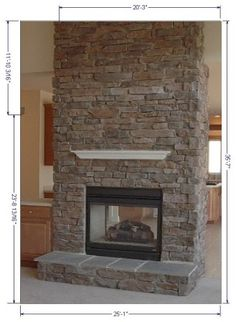 New No Cost flat Stone Fireplace Strategies kitchens with rock fireplaces Modern Fireplace Screen, Modern Mantle, Stone Fireplace Designs, Stone Fireplace Surround, Fireplace Pictures, Fireplace Ideas, Fireplace Facing, Brick Face, Electric Fireplace Tv Stand