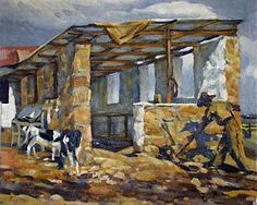 Cowshed at Glenaholm Pietermaritzburg, Visit South Africa, 1940s, Painting, Art, Art Background, Painting Art, Kunst, Paintings, Performing Arts