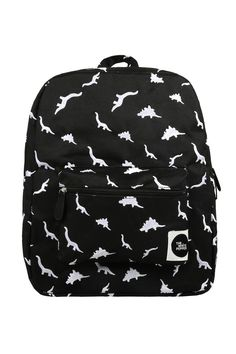 Canvas Backpack Dinosaur Embroidery http://www.thewhitepepper.com/collections/bags/products/canvas-backpack-dinosaur-embroidery