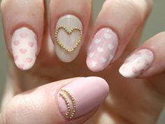 PRETTY IN PINK    Polish Suggestions: Misa Blush Hour (white-pink), China Glaze Something Sweet (pink), Essie Body Language (pale grey)