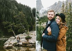 Lauren + Trevor's Rocky Mountain Winter Engagement : Emma + Wesley of W&E Photographie