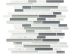 Carrara Ice Glass Mosaic Random Strip $7.99 S/F