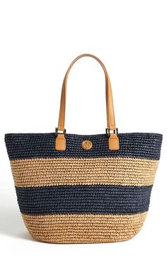Tory Burch Stripe Tote available atneed it-want it- gotta have itTory Burch Stripe Tote available atShop Women's Tory Burch Totes and shopper bags on Lyst. Track over 3396 Tory Burch Totes and shopper bags for stock and sale updates. Crochet Tote, Crochet Handbags, Tote Handbags, Purses And Handbags, Shopper Bag, Tote Bag, Tory Burch, Nautical Stripes, Straw Tote