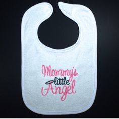 Mommy's little angel is available in pink or blue- perfect for your little one!