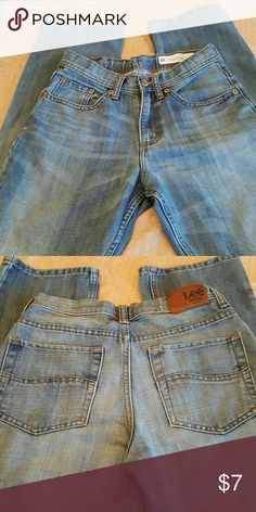 Jeans Barely worn boys jeans, 16 slim straight leg Lee Bottoms Jeans