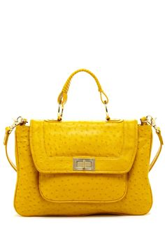 Rebecca Minkoff Covet Satchel  I could use some sunshine for my winter wardrobe :)