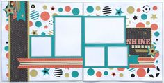 CTMH Chalk It Up. Two page Scrapbook Layout. 5 pictures. Idea from Close to my Heart- Make it from your Heart Volume 2 pg.24. Uses Cricut cartridge Artbooking.