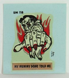 Monster Decals Originals by Monte by FindingMaineVintage on Etsy