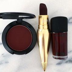 maroon makeup