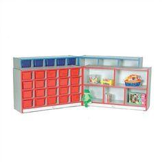 Mahar Creative Colors Hinged Compartment Cubby Trim Color: Burgundy, Size: Preschool