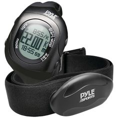 PYLE-SPORTS PSBTHR70BK Bluetooth(R) Fitness Heart Rate Monitoring Watch with Wireless Data Transmission & Sensor (Black)