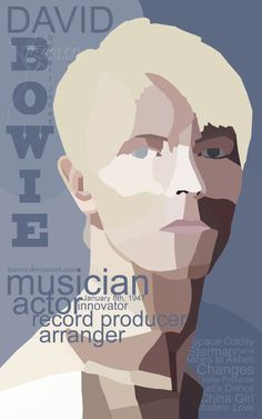 David Bowie Biography Poster by Triever on DeviantArt
