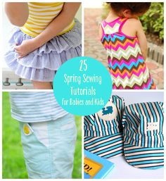 25 Spring Sewing projects for babies and kids!