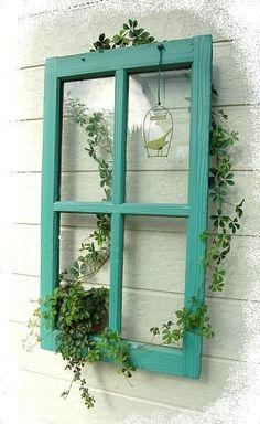 Garden Yard Ideas, Garden Crafts, Garden Projects, Garden Art, Old Window Projects, Outdoor Projects, Outdoor Decor, Outdoor Walls, House Plants Decor