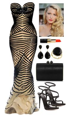 """Untitled #4102"" by natalyasidunova ❤ liked on Polyvore featuring Giuseppe Zanotti, Jimmy Choo, Nehita, Effy Jewelry and Bobbi Brown Cosmetics"