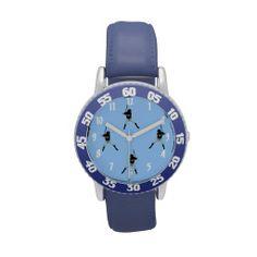Batters Up in Blue Wrist Watches www.zazzle.com/whitewaveskids*/