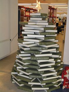 20 Unique Christmas trees, including this Book Tree :)