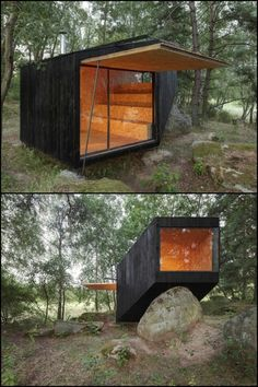 This forest cabin is one great place to escape from the day-to-day pressures of life!
