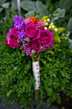 Deep Magenta Bouquet by Sweetpea's