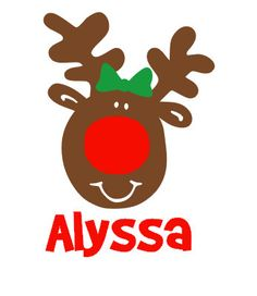 Personalized Reindeer  iron on decal vinyl