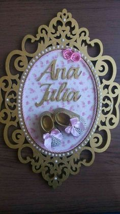Mi niña Framed Letters, Diy Letters, Paper Flower Wall, Paper Flowers, Photo Frame Prop, Baby Frame, 3d Laser, Baby Shower Princess, Birthday Party Decorations