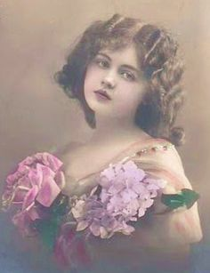 beautifully colored vintage photo