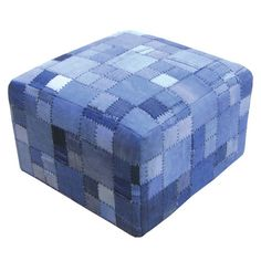 great idea for recycling old jeans for a boys room or family room -- I pinned this Patchwork Ottoman from the Fashion + Decor event at Joss and Main!