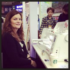 Riana at the Tokyo International Quilt Show 2014 - My Craft Land Diary