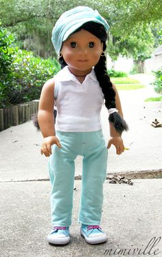Mint Jeans for American Girl dolls {by mimiville on Etsy}