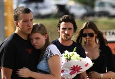 How Cool is Christian Bale!!!! He visited Aurora, CO after the Dark Knight Tragedy....
