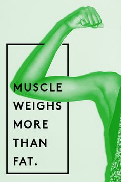 """9 Fitness Myths We Need To Stop Believing #refinery29  http://www.refinery29.com/fitness-myths#slide9  FALSE  A pound is a pound is a pound. The question here is density. """"Muscle has a higher density than fat,"""" explains Ame. """"However, it will require more fat to weigh as much as muscle.""""  Jen adds that muscle takes up about a third as much space as the same amount of fat. """"This is why resistance training is key. It creates a much more dramatic body composition change than more traditional…"""